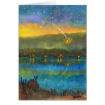 'Falling Star' Note Card