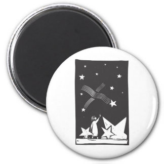 Falling Stars 2 Inch Round Magnet