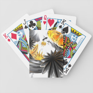 Falling Stars Abstract Bicycle Playing Cards