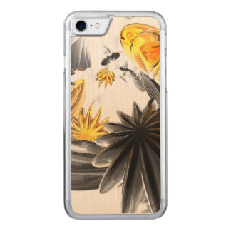 Falling Stars Abstract Carved iPhone 7 Case