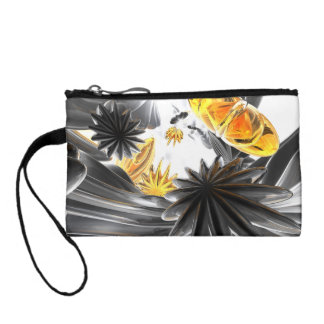 Falling Stars Abstract Coin Wallet