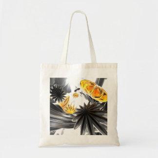 Falling Stars Abstract Tote Bag