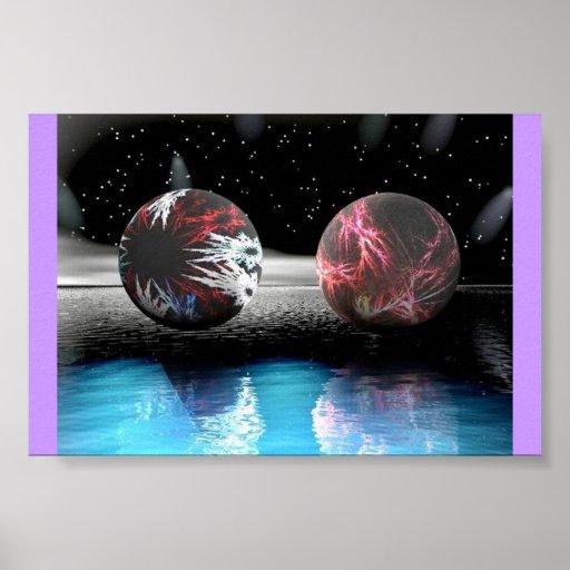 Falling Stars APO Spheres Poster