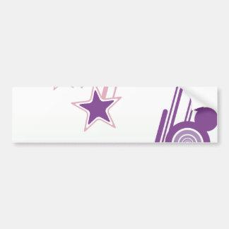 Falling Stars Car Bumper Sticker
