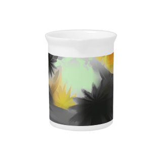 Falling Stars Pastel Abstract Beverage Pitcher