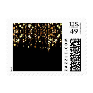 falling stars postage postal stamps
