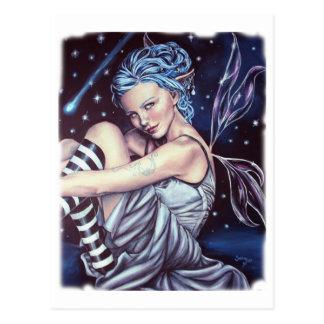 falling stars postcard