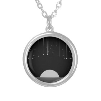 Falling Stars Round Pendant Necklace