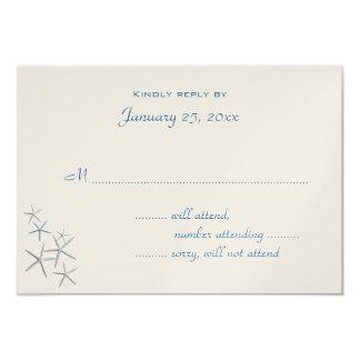 Falling Stars Small Wedding Reply Enclosure Card