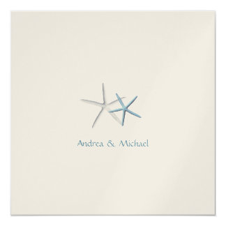 Falling Stars Square Custom Wedding Invitations