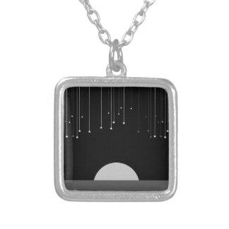 Falling Stars Square Pendant Necklace