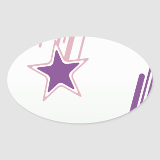 Falling Stars Oval Sticker