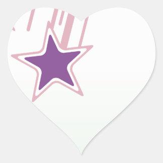 Falling Stars Heart Sticker