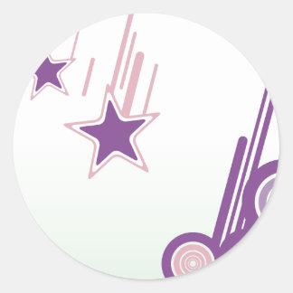 Falling Stars Classic Round Sticker