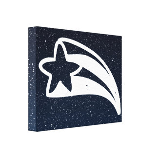 Falling Stars Symbol Canvas Print