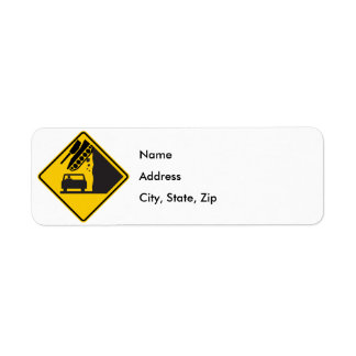Falling Tank Zone Highway Sign Label