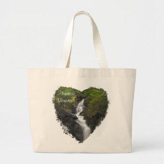 Falling Through Foliage; Alaska Souvenir Jumbo Tote Bag