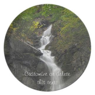 Falling Through Foliage; Customizable Party Plates