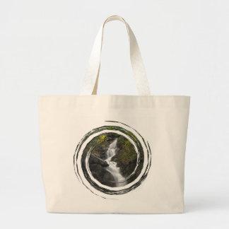 Falling Through Foliage; No Text Jumbo Tote Bag