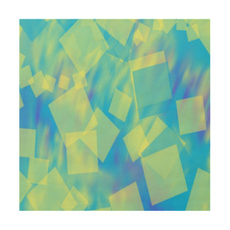 falling transparent squares 12x12 Wood Canvas