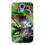 Falling Trees Green River Banks Posterized Galaxy S4 Cases