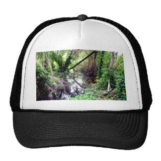 Falling Trees Green River Banks Posterized Trucker Hat