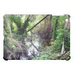 Falling Trees Green River Banks Posterized iPad Mini Cover