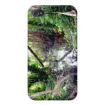 Falling Trees Green River Banks Posterized iPhone 4/4S Covers