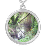 Falling Trees Green River Banks Posterized Necklaces