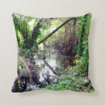 Falling Trees Green River Banks Posterized Pillow