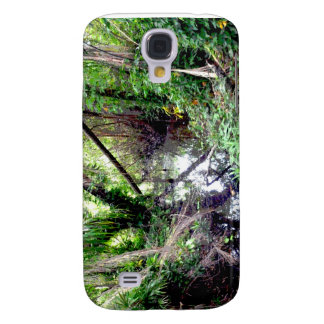 Falling Trees Green River Banks Posterized Samsung Galaxy S4 Cover