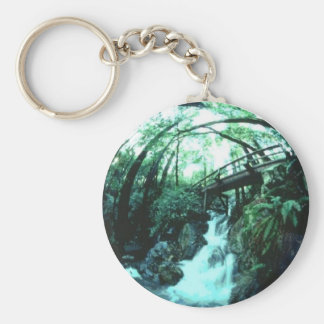 Falling Water Basic Round Button Keychain