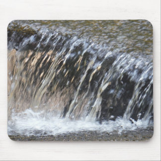 Falling Water, cool blue gray and white stream Mouse Pad