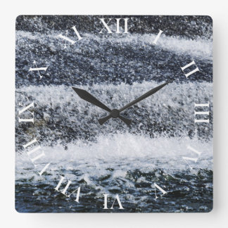 Falling Water Square Wall Clock