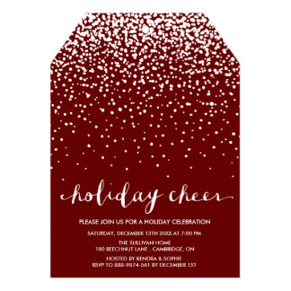 Red White Christmas Party Invitations Announcements Zazzle