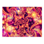 Falling Within(warm)- Psychedelic Fractal Abstract Postcard