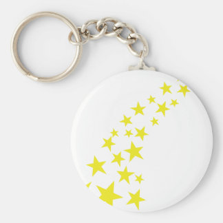 falling yellow stars keychain