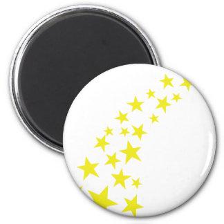 falling yellow stars magnet