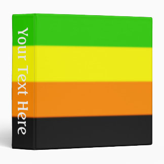 Fallln Aromantic Pride Flag 3 Ring Binder