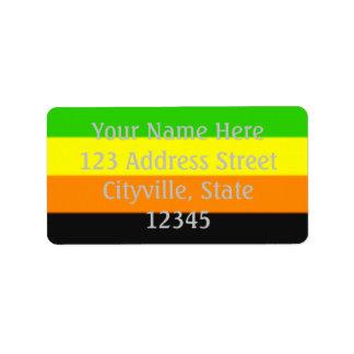 Fallln Aromantic Pride Flag Label