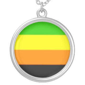 Fallln Aromantic Pride Flag Round Pendant Necklace