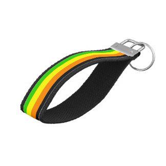 Fallln Aromantic Pride Flag Wrist Keychain