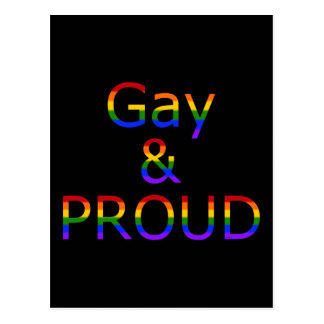 Fallln Gay and Proud Postcard