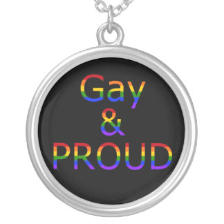 Fallln Gay and Proud Round Pendant Necklace