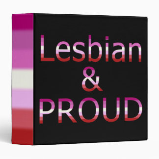 Fallln Lesbian and Proud 3 Ring Binder