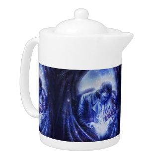 Falln Angel in Blue Teapot