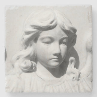 Falln Angel in Mourning Stone Coaster