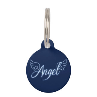 Falln Angel With Wings Pet Tag