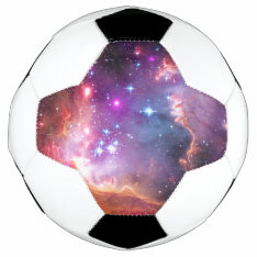 Falln Angelic Galaxy Soccer Ball at Zazzle