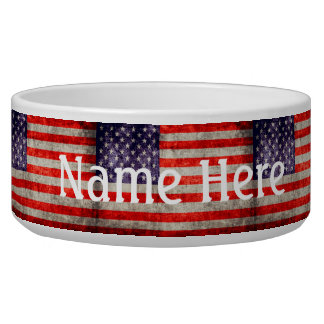 Falln Antique American Flag Bowl